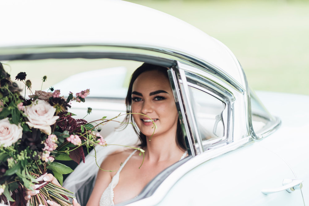 Bridal Car | Garden Wedding | Astra Bridal | Sottero & Midgley – Bexley | Gemma Flay Photography