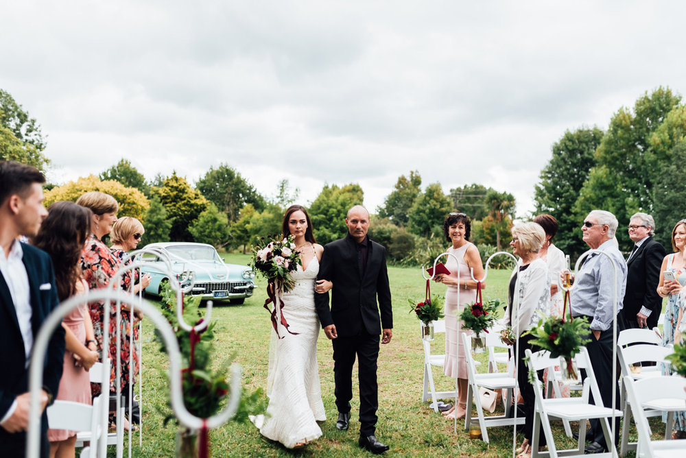 Bride and Father | Garden Wedding | Astra Bridal | Sottero & Midgley – Bexley | Gemma Flay Photography