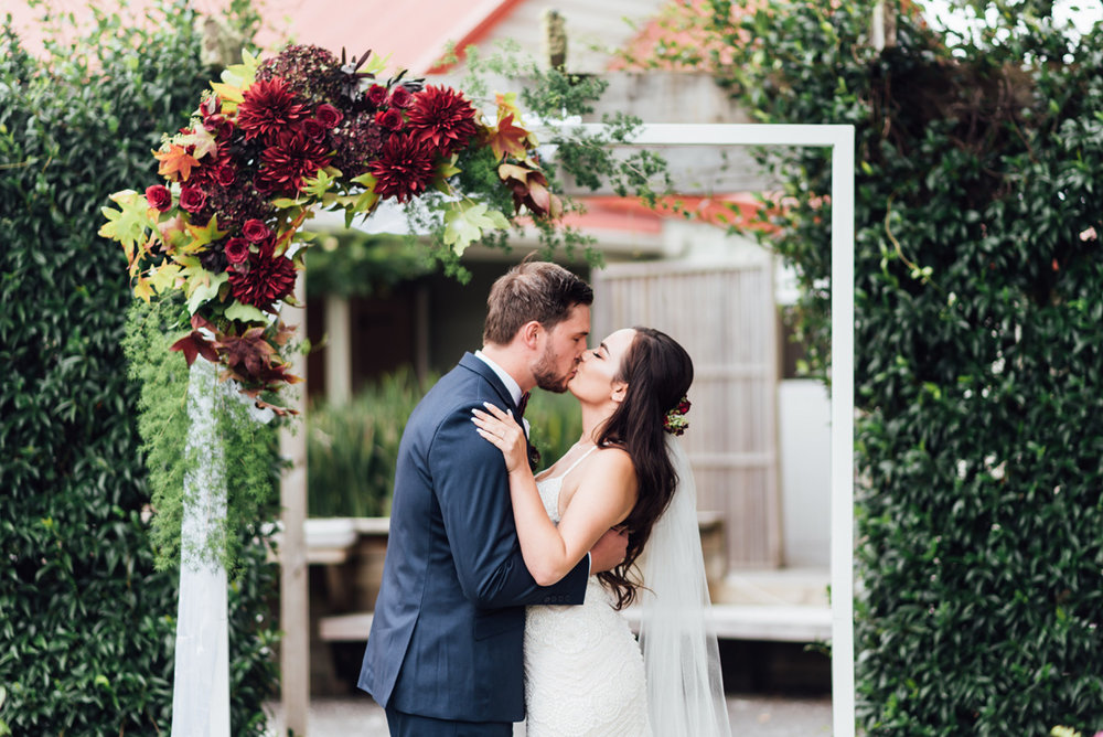 Alter Kiss | Garden Wedding | Astra Bridal | Sottero & Midgley – Bexley | Gemma Flay Photography