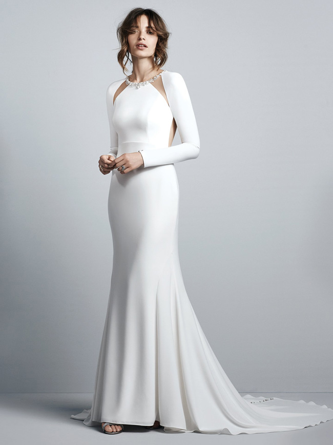 #9 Sottero & Midgley - Arleigh - Full length opaque sleeve.