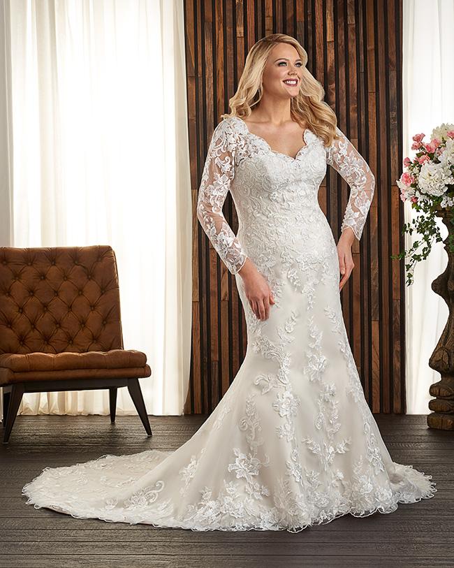 #8 Bonny Bridal - 1717 - Full length full lace sleeve.