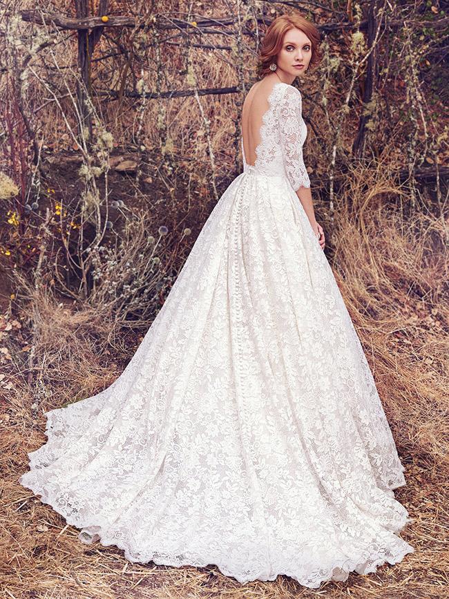 #1Maggie Sottero - Cordelia - 3/4 full lace sleeve