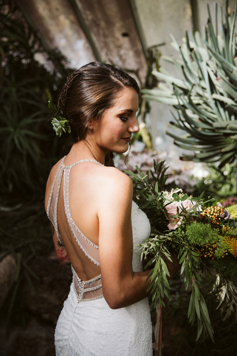 Cut-out back wedding gown | Same Sex Styled Shoot | Astra Bridal | Maggie Sottero | Marys Bridal | Sweet Events Photography