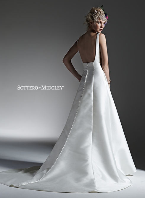 - If you loved the chic and elegant design of Catherine's Sottero & Midgley gown; McCall, click on the link below to make an appointment at your nearest Astra Bridal salon to try it on.