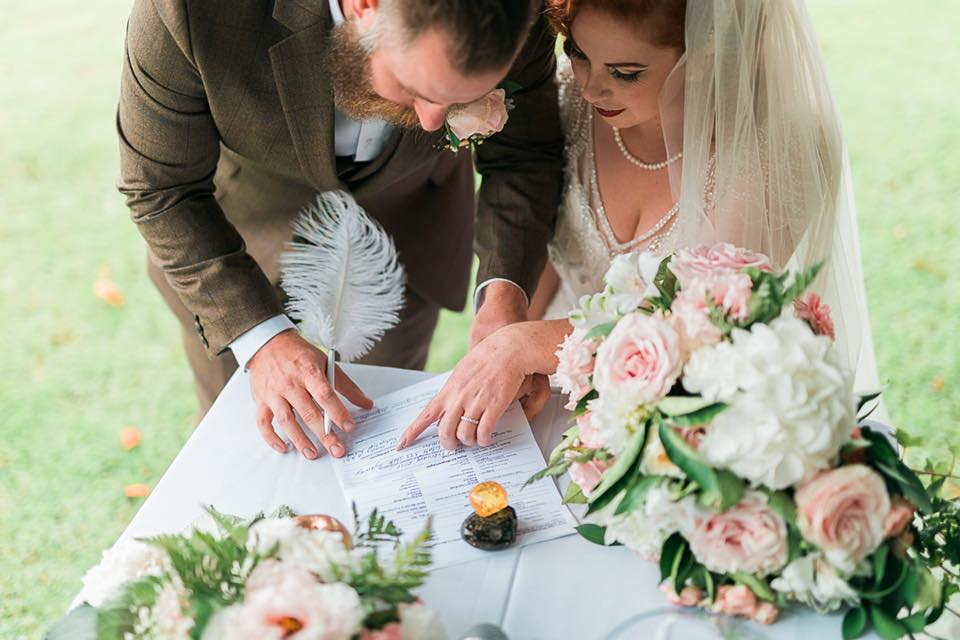 Signing the Register | Astra Bride Camille