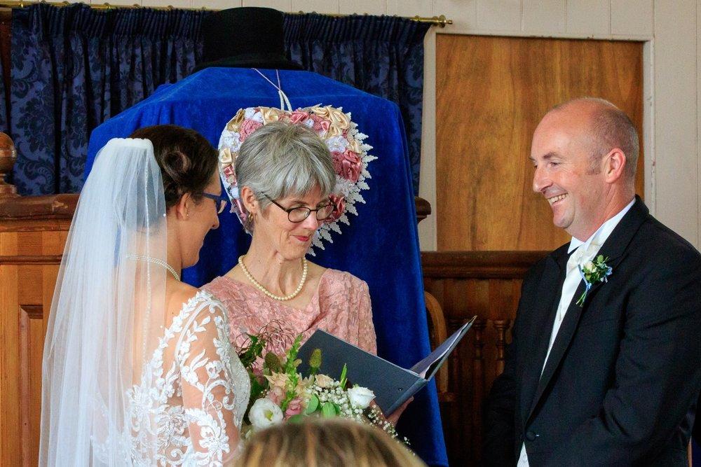 Celebrant | Maggie Sottero | Astra Bridal | Vintage Wedding | Larnach Castle | Vanessa Adcock Photography