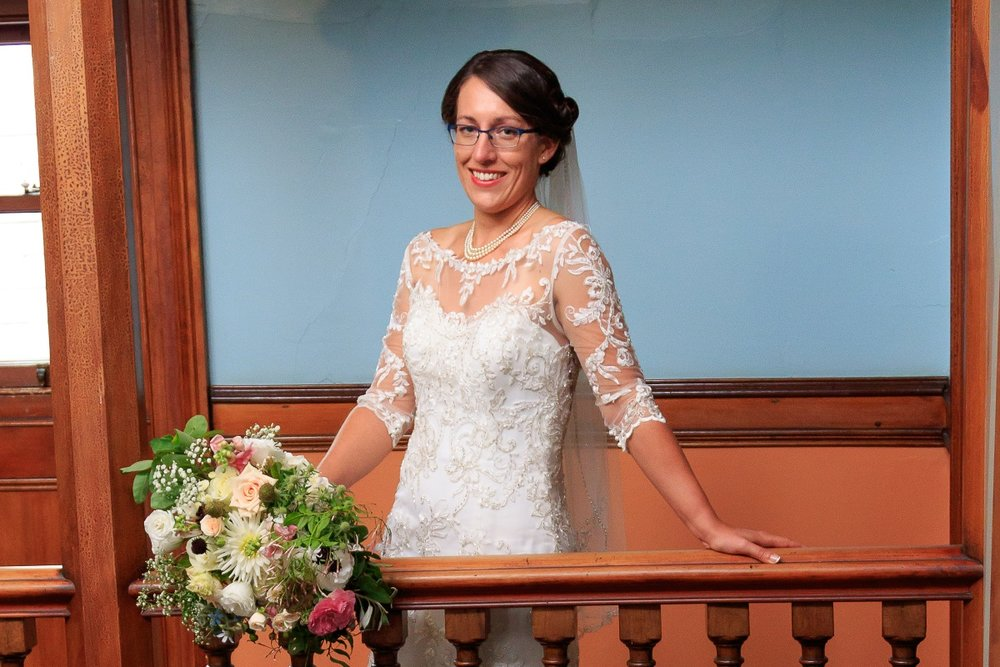 Lae Wedding Dress | Maggie Sottero | Astra Bridal | Vintage Wedding | Larnach Castle | Vanessa Adcock Photography