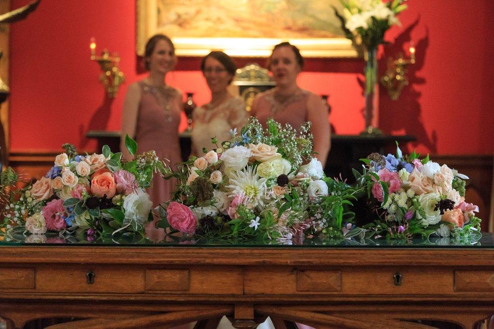 Bridal Bouquets | Maggie Sottero | Astra Bridal | Vintage Wedding | Larnach Castle | Vanessa Adcock Photography