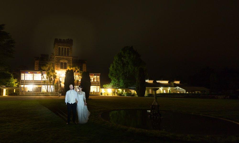 Wedding evening | Maggie Sottero | Astra Bridal | Vintage Wedding | Larnach Castle | Vanessa Adcock Photography