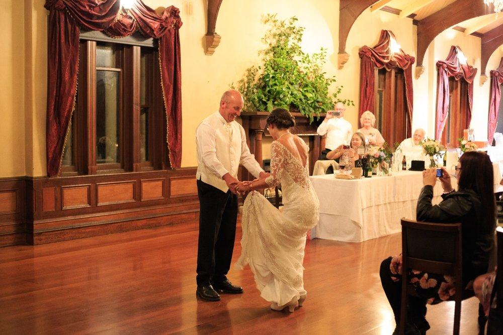 Wedding Dance | Maggie Sottero | Astra Bridal | Vintage Wedding | Larnach Castle | Vanessa Adcock Photography