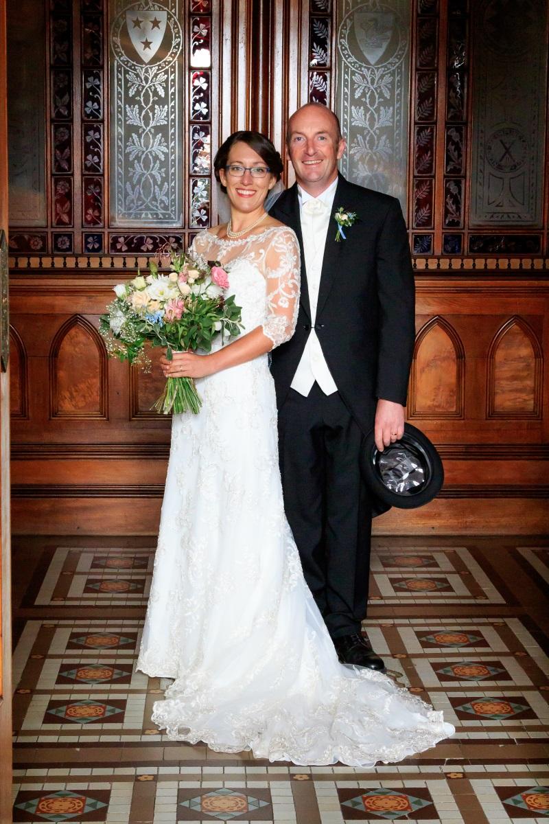 Bride and Groom | Maggie Sottero | Astra Bridal | Vintage Wedding | Larnach Castle | Vanessa Adcock Photography