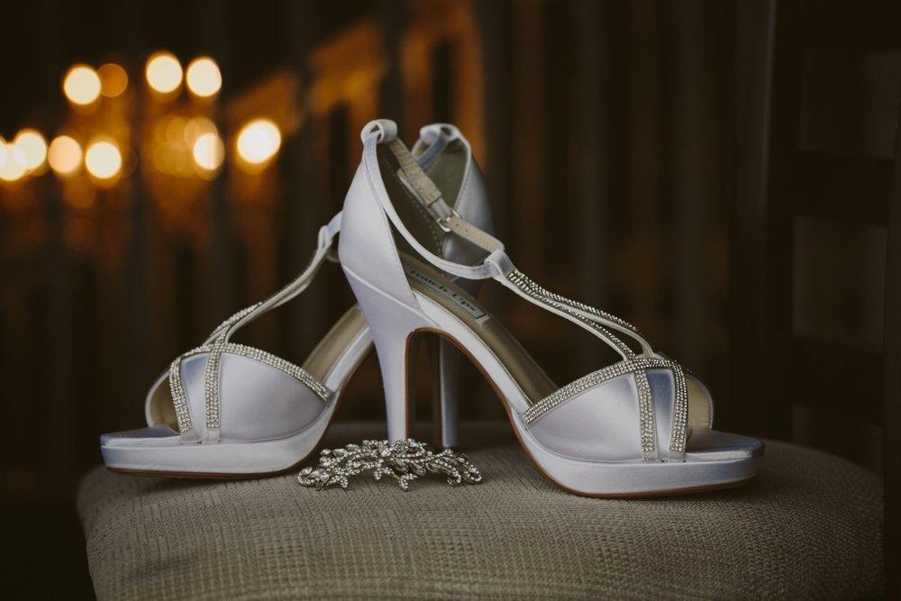 Satin Bridal Heels | Essence Bridal | Astra Bridal | Classic Wedding | Daltons Plantation | Ruth Gilmour Photography