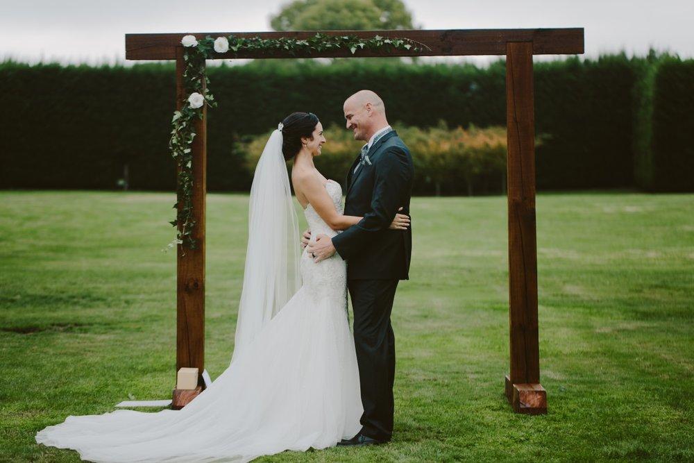 Wedding Arch | Essence Bridal | Astra Bridal | Classic Wedding | Daltons Plantation | Ruth Gilmour Photography
