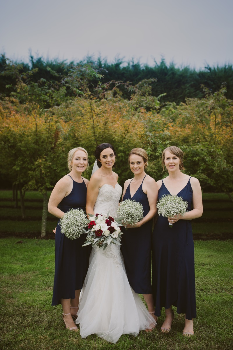 Navy Bridesmaids | Essence Bridal | Astra Bridal | Classic Wedding | Daltons Plantation | Ruth Gilmour Photography