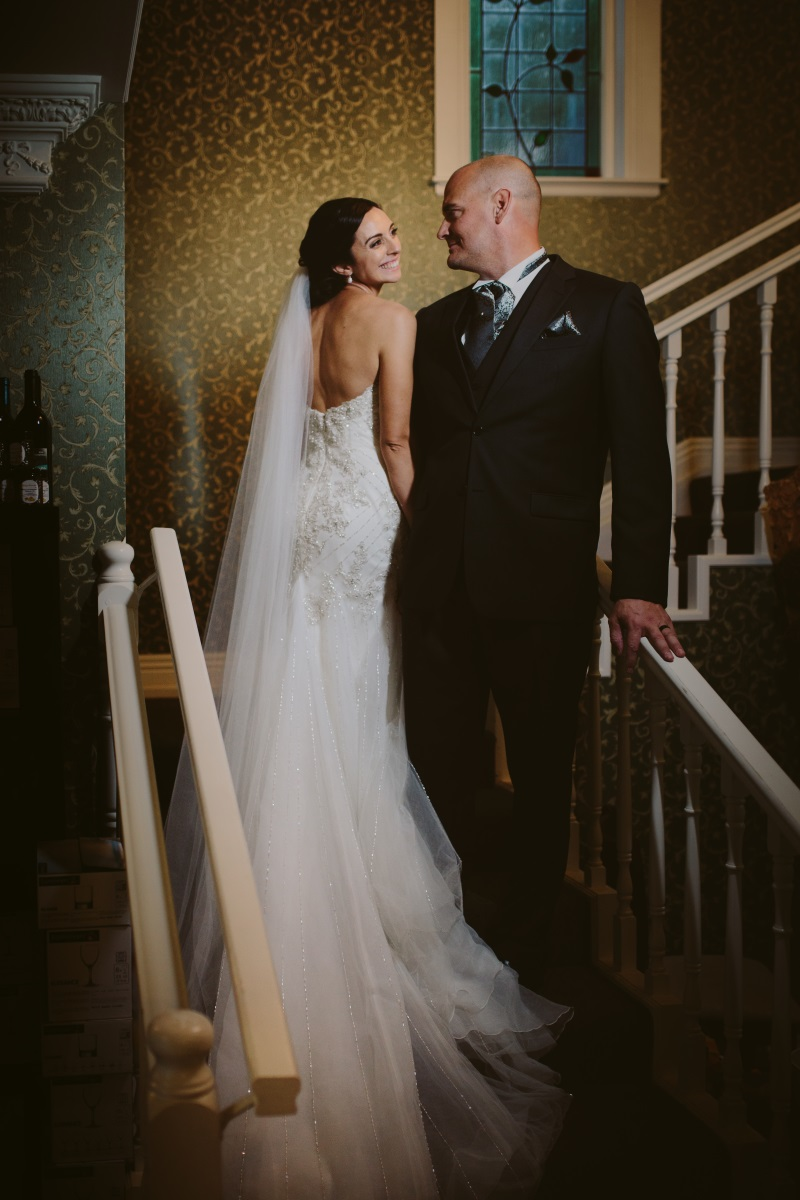Long raw edge veil | Essence Bridal | Astra Bridal | Classic Wedding | Daltons Plantation | Ruth Gilmour Photography