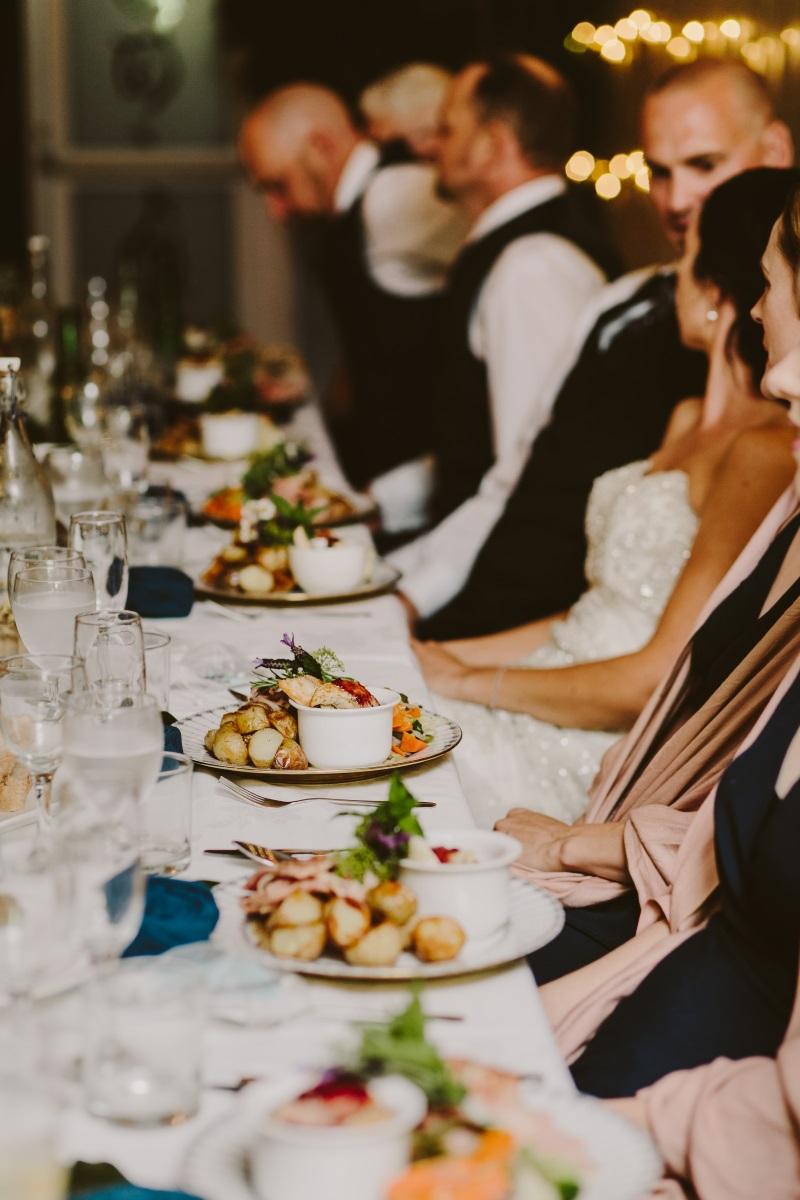 reception dinner | Essence Bridal | Astra Bridal | Classic Wedding | Daltons Plantation | Ruth Gilmour Photography