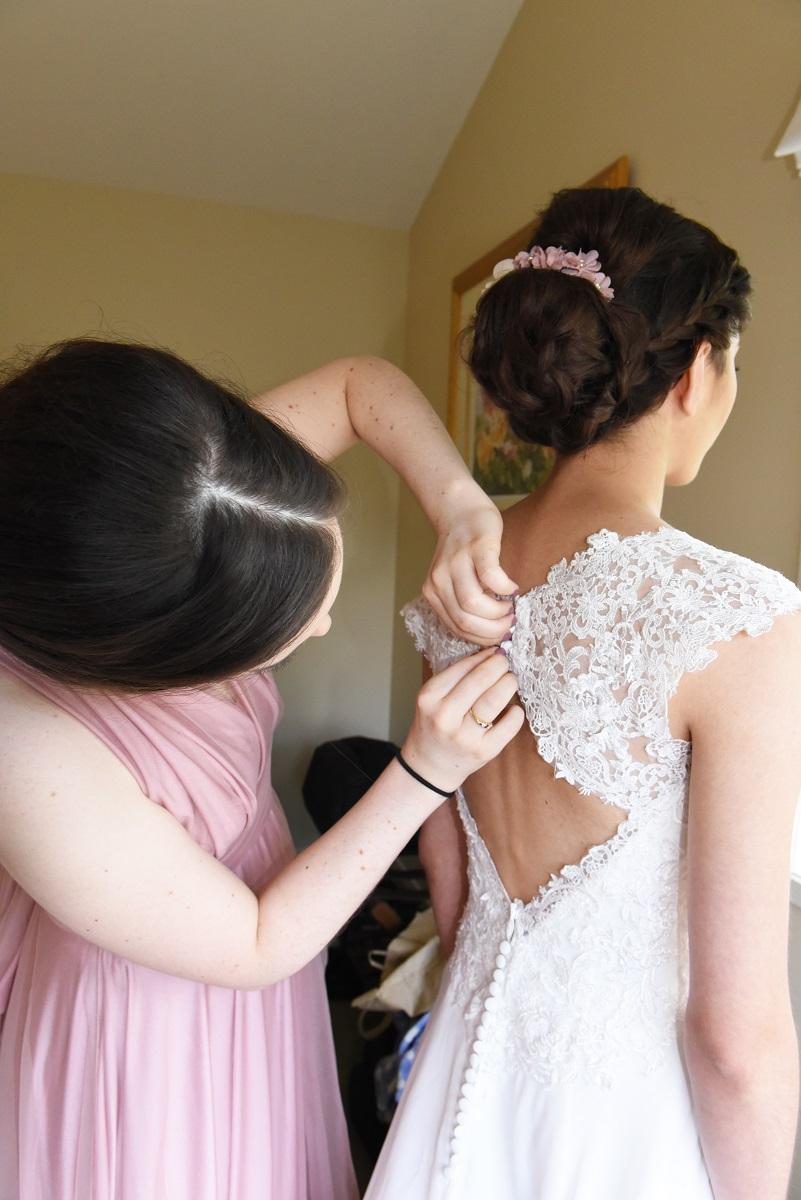 Wedding Dress Buttons | Astra Bride Rebekah