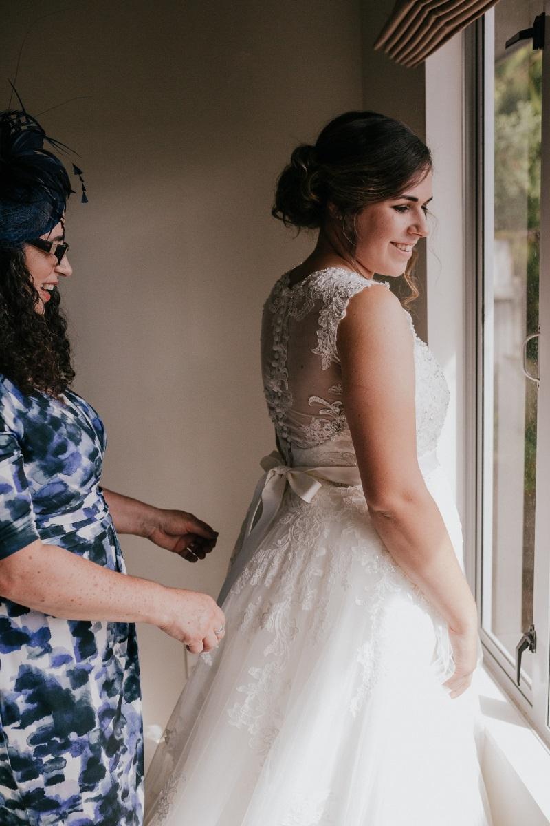 Illusion lace back Wedding Gown | Bonny Bridal | Astra Bridal | Classic Wedding | Huka Falls Resort | Jessica Lee Photography