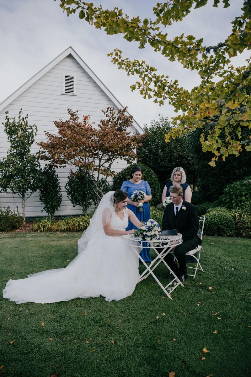 Signing Table | Bonny Bridal | Astra Bridal | Classic Wedding | Huka Falls Resort | Jessica Lee Photography