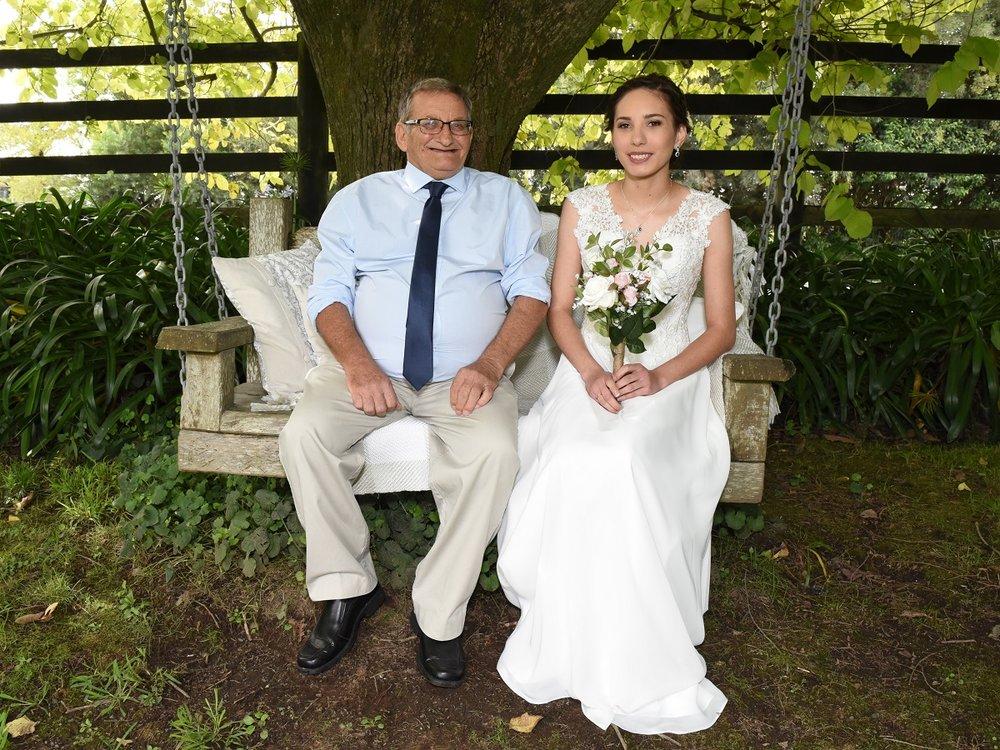 Father of the Bride and Bride | Astra Bride Rebekah