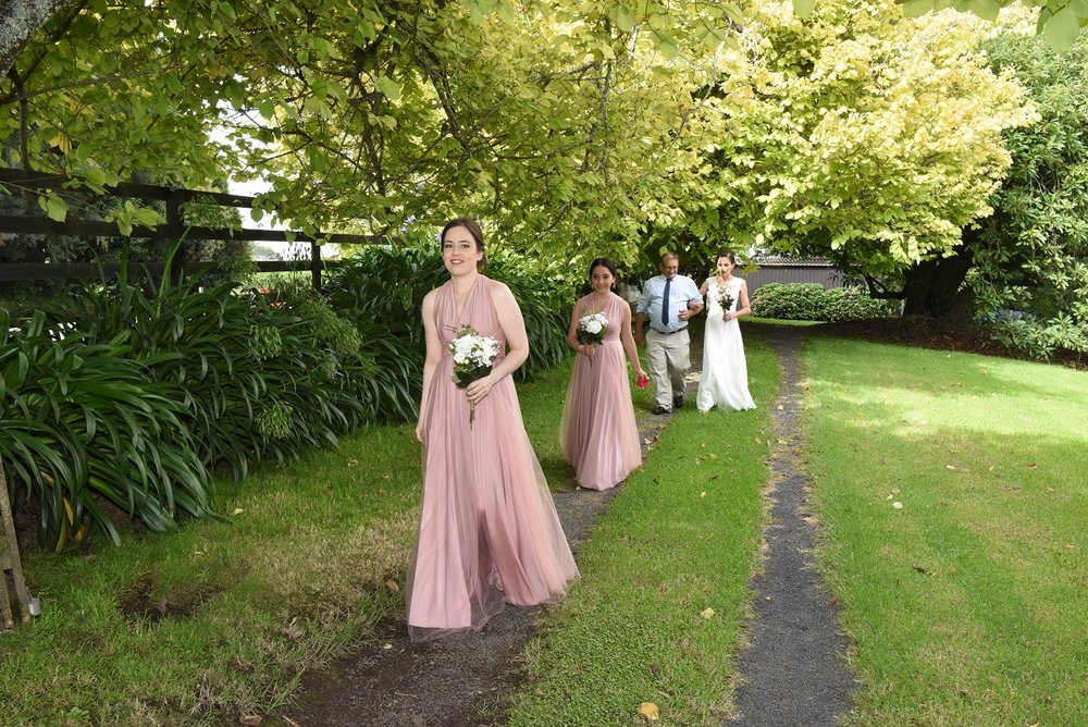 The Bridal Party on their way | Astra Bride Rebekah