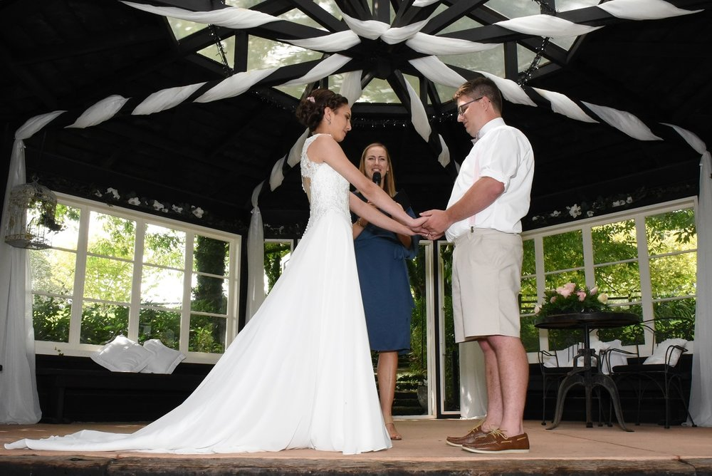 Saying our Marriage Vows | Astra Bride Rebekah