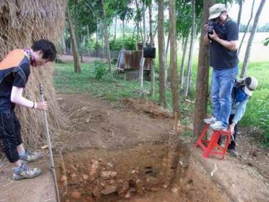 Dr. Tawara doing fieldwork
