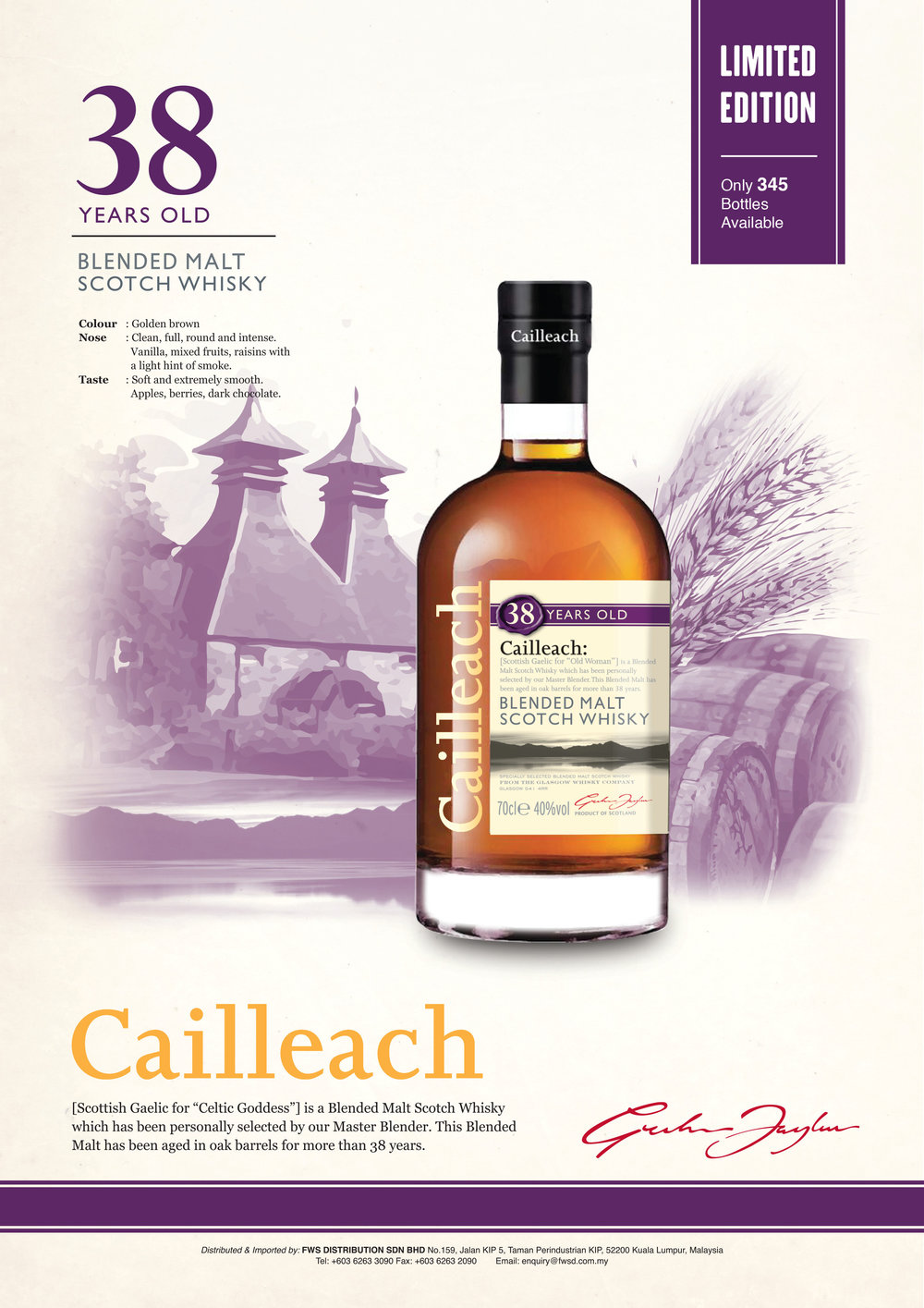 CAILLEACH 38 Year Old.