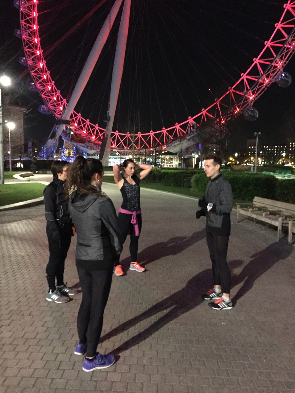 Training session with one of the UK's top running coaches, Tom Craggs, along the South Bank