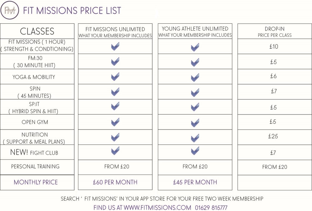 fit missions bakewell gym membership prices