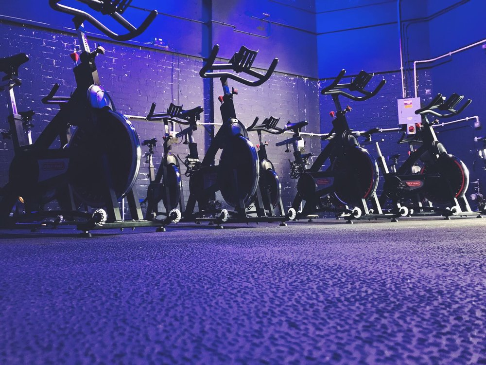 SPIN - Spin at Fit Missions is FUN, FAST and SWEATY!Taking place in our specially-designed Dark Room with the lights down low and the music up high, Spin is a great blast of cardio before or after a hard days work. Described as