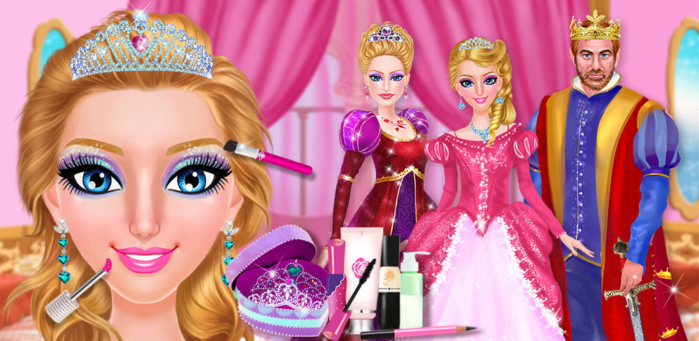 Princess Salon™ 2  Become royalty and feel totally pampered with this awesome game, Princess Salon 2!  Now you can easily get a makeover and try out beautiful dresses all at once!  There are THREE BEAUTIFUL PRINCESS GIRLS for you to choose from!