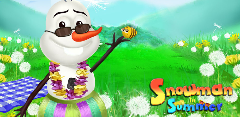 Summer Snowman Salon  Ever wanted to design your own snowman but didn't have enough snow to get started? Snowman in Summer is the perfect app for you!This creative game lets you make a DIY snowman no matter what season it is. Roll up balls of snow and place them on the screen, stacking them to make the perfect snowman shape.