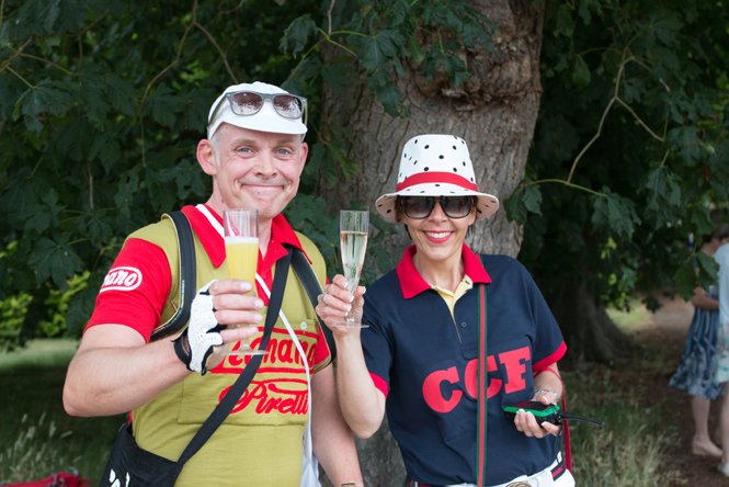 Enjoying the Fizz at the Chenies Cycling Festival