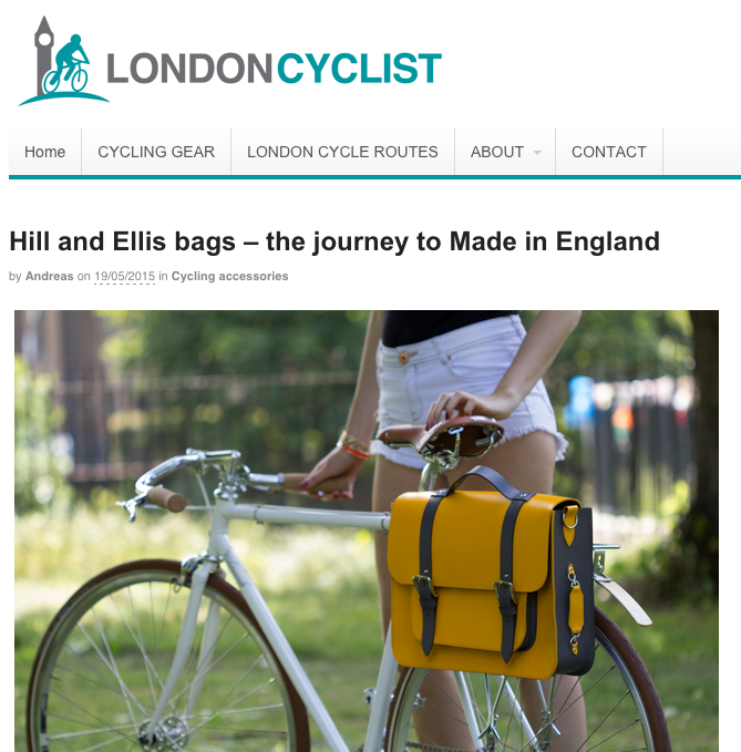 London Cyclist Review the Hill & Ellis bags