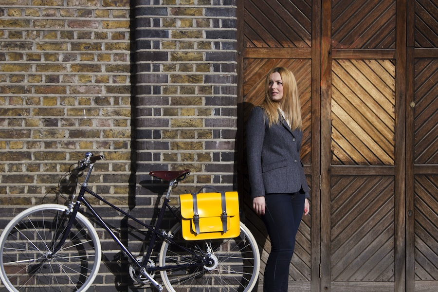 Meame cycle jacket and Hill & Ellis Bradley bike bag