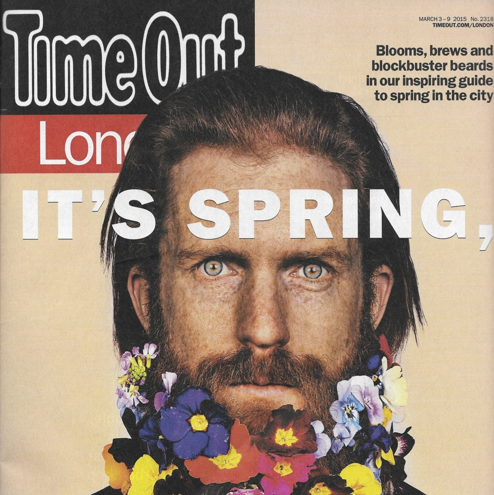 Sean appearing on the cover of the very edition of Time Out that we were also featured in! It's a sign ... we should follow him on Twitter!