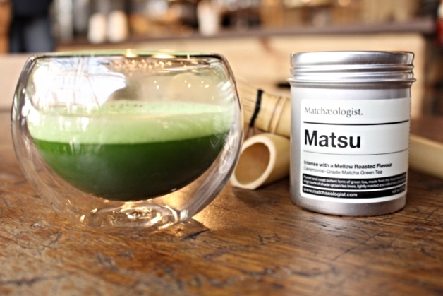 Matcha Tea with cycling