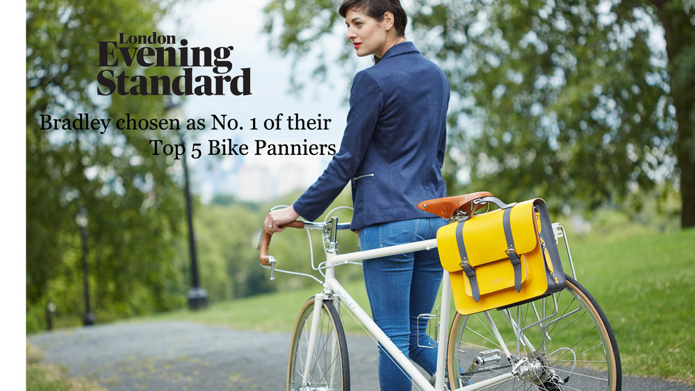Yellow Leather Bike bag