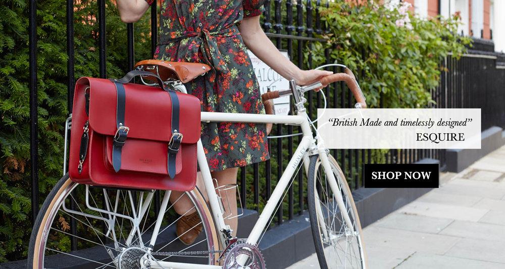 Red Satchel bike bag