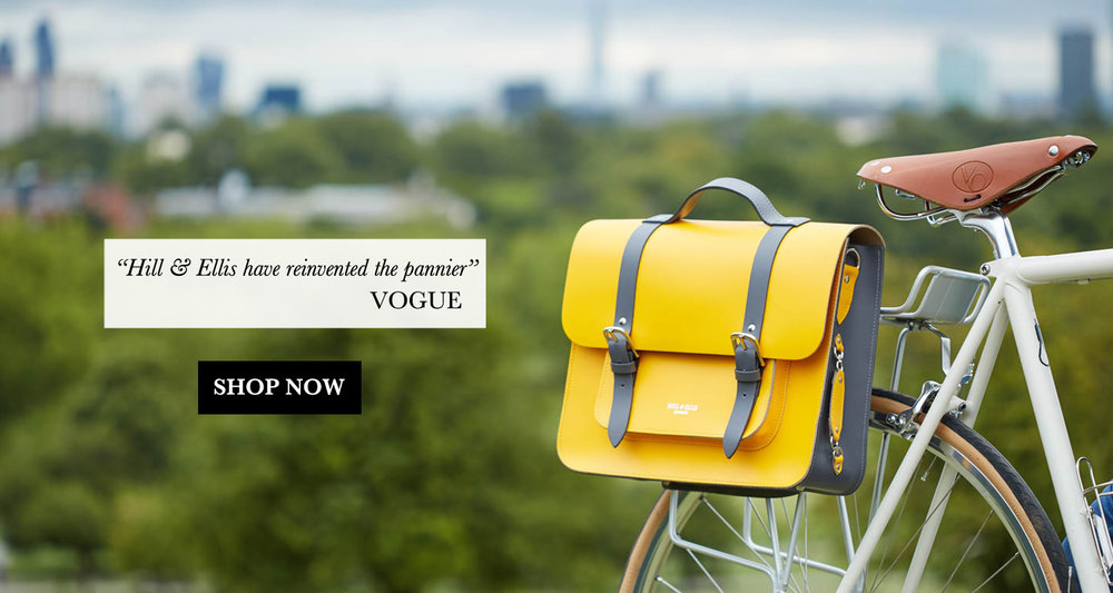 Yellow Satchel bike pannier