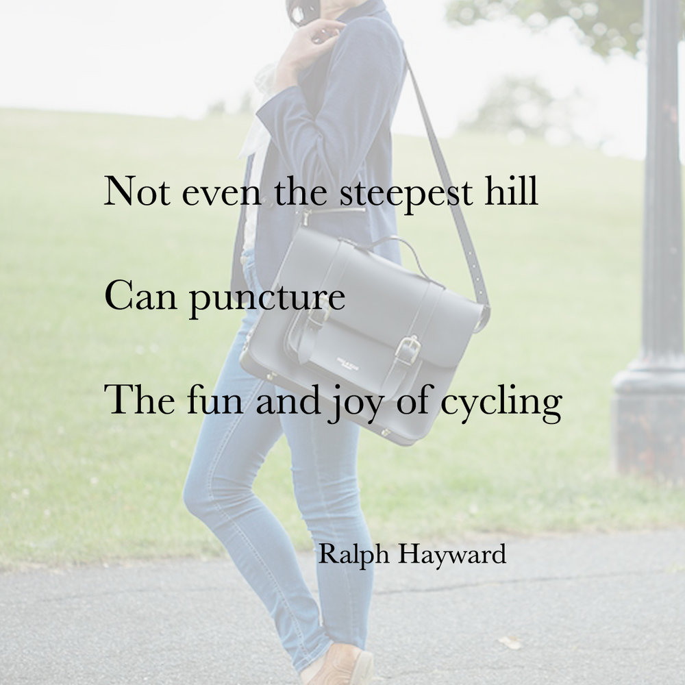 Baiku bike bag poetry ralph hayward