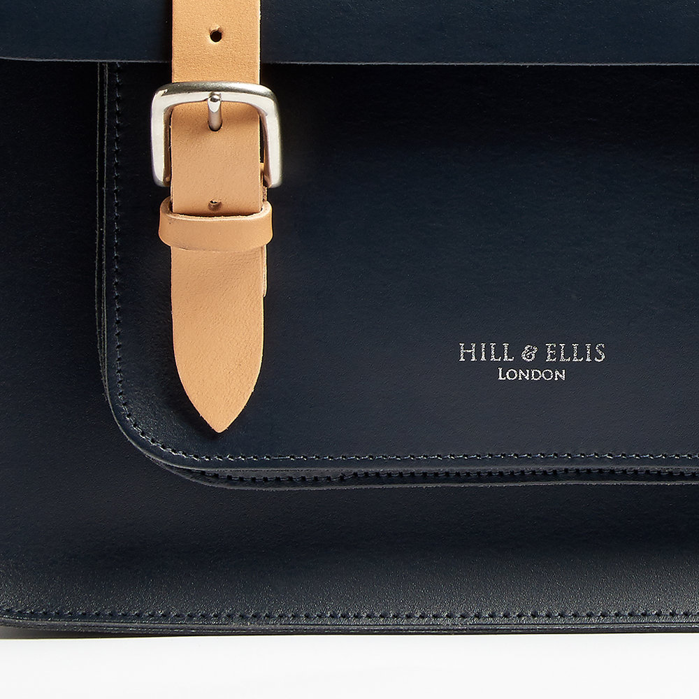 Oxford Blue satchel