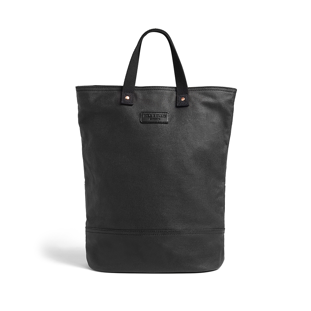 Black canvas bike bag