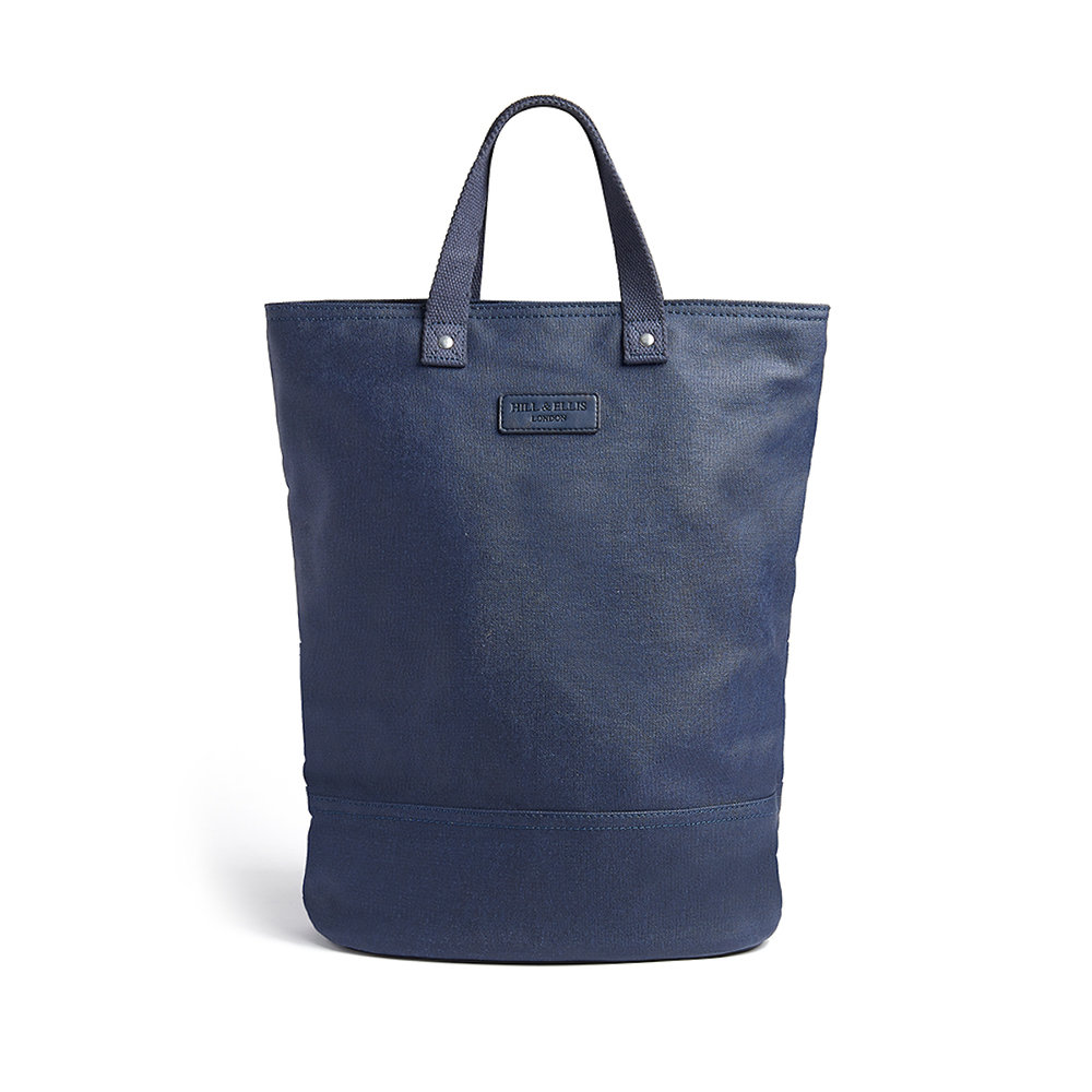 Navy Blue Canvas bike bag