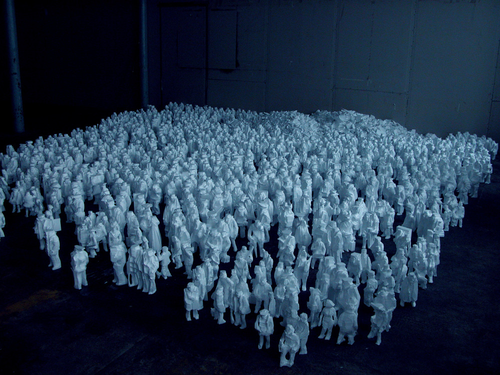 Kirill Chelushkin, Snow people , Installation, 2016 - Courtesy the artist and Rabouan Moussion Gallery Paris
