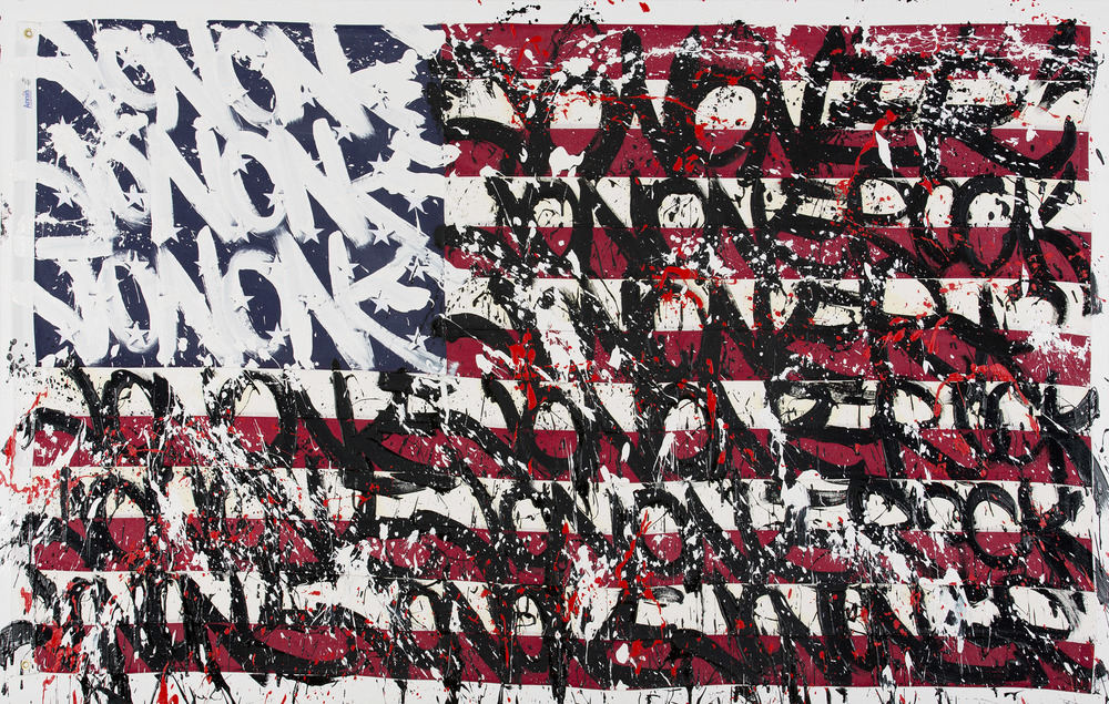 JonOne,  Can`t catch me , 2014 - 160 x 300 cm - Courtesy the artist and Rabouan Moussion Gallery Paris