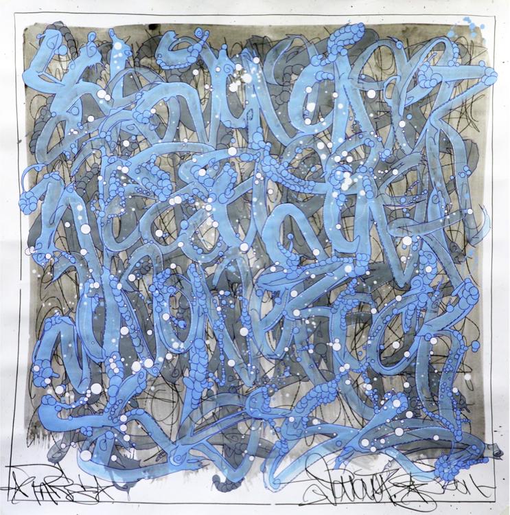 JonOne,  Sans Titre , 2014 - 126,5 x 126,5 cm - Courtesy the artist and Rabouan Moussion Gallery Paris