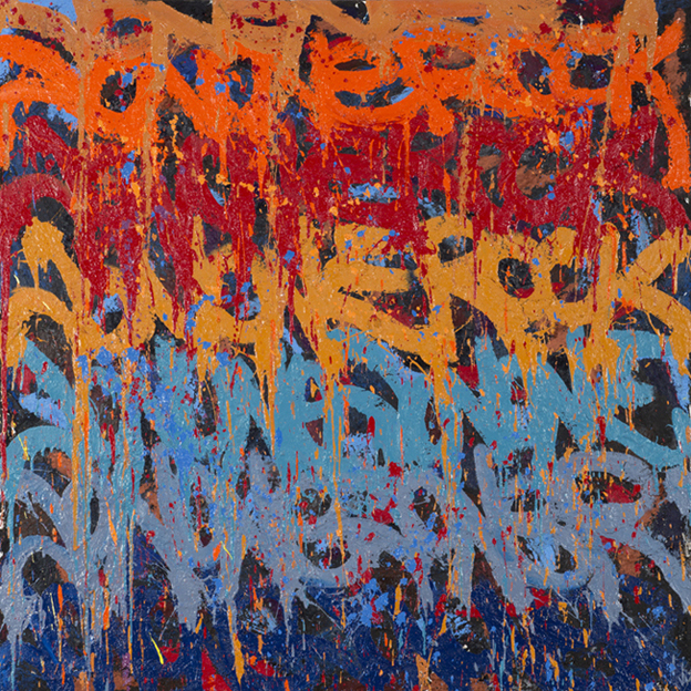 JonOne,  Untitled , 2014 - 100 x 100 cm - Courtesy the artist and Rabouan Moussion Gallery Paris