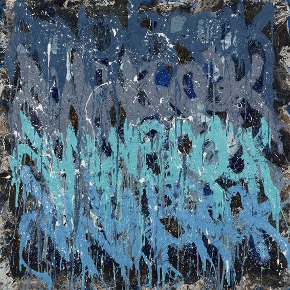 JonOne,  Forest Mist  , 2014 - 110 x 110 cm - Courtesy the artist and Rabouan Moussion Gallery Paris